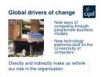 global drivers of change