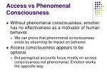 access vs phenomenal consciousness