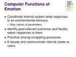 computer functions of emotion