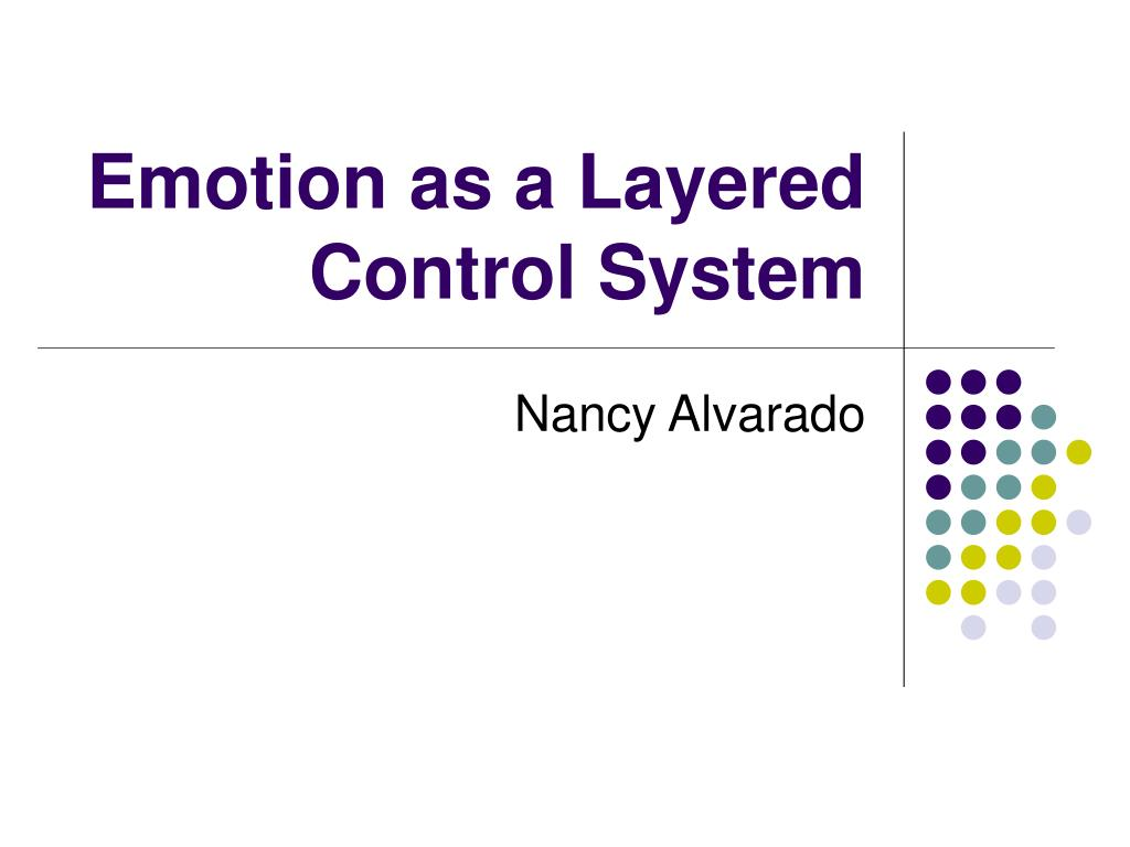 emotion as a layered control system l.