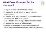 what does emotion do for humans