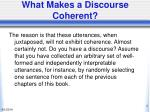 what makes a discourse coherent