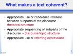 what makes a text coherent