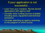 if your application is not successful
