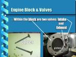 engine block valves