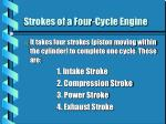 strokes of a four cycle engine