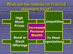 what are the motives for financial statement fraud