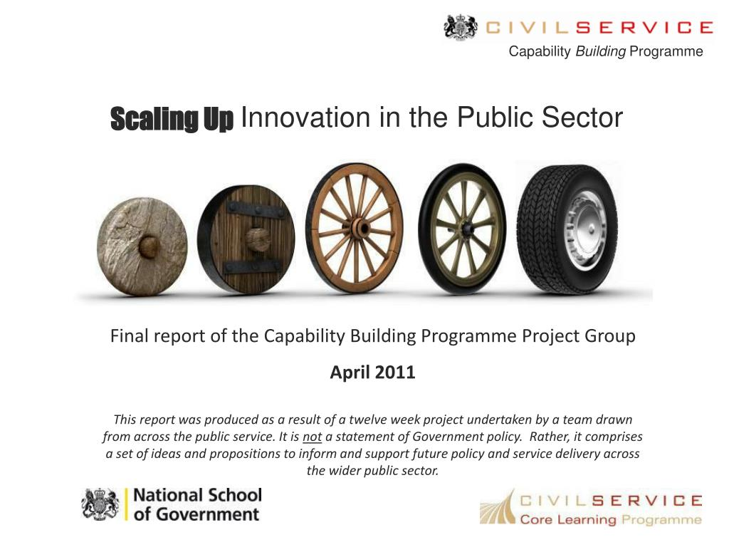 scaling up innovation in the public sector l.