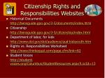citizenship rights and responsibilities websites