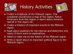 history activities
