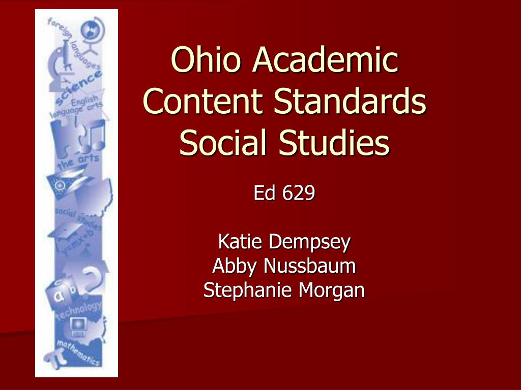 ohio academic content standards social studies l.