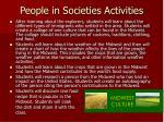 people in societies activities