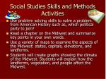 social studies skills and methods activities