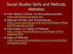 social studies skills and methods websites