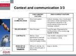 context and communication 3 3