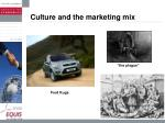 culture and the marketing mix16