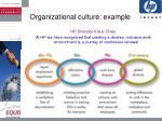 organizational culture example