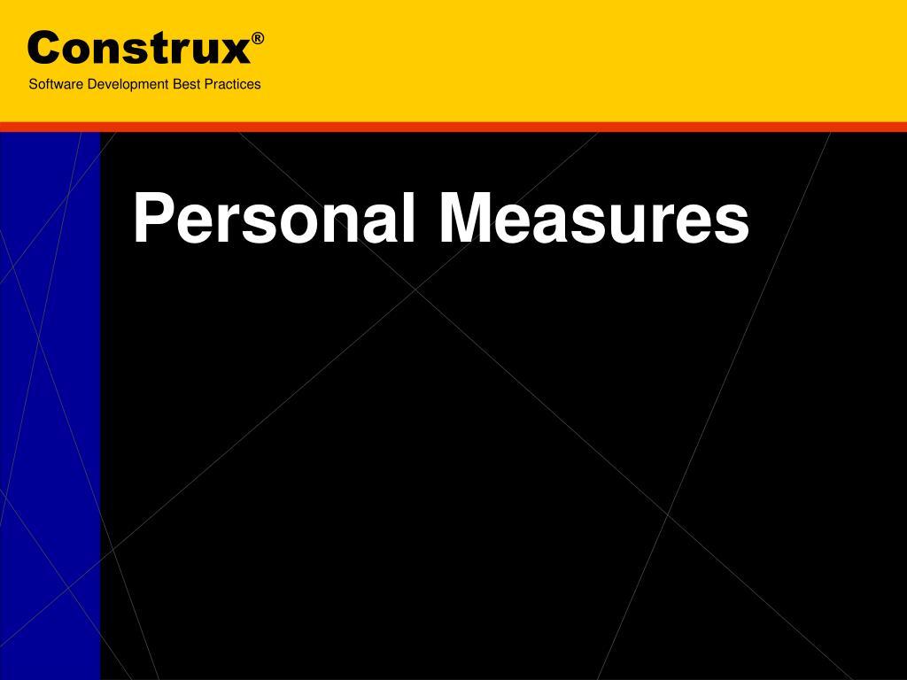 personal measures l.