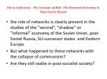 alena ledeneva the concept of blat the network economy in post soviet russia57
