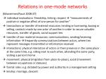 relations in one mode networks