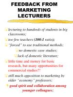 feedback from marketing lecturers
