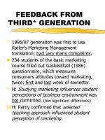 feedback from third generation