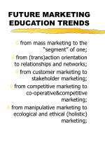 future marketing education trends
