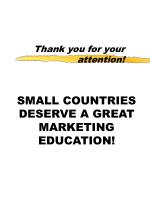small countries deserve a great marketing education