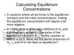calculating equilibrium concentrations25