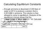 calculating equilibrium constants18