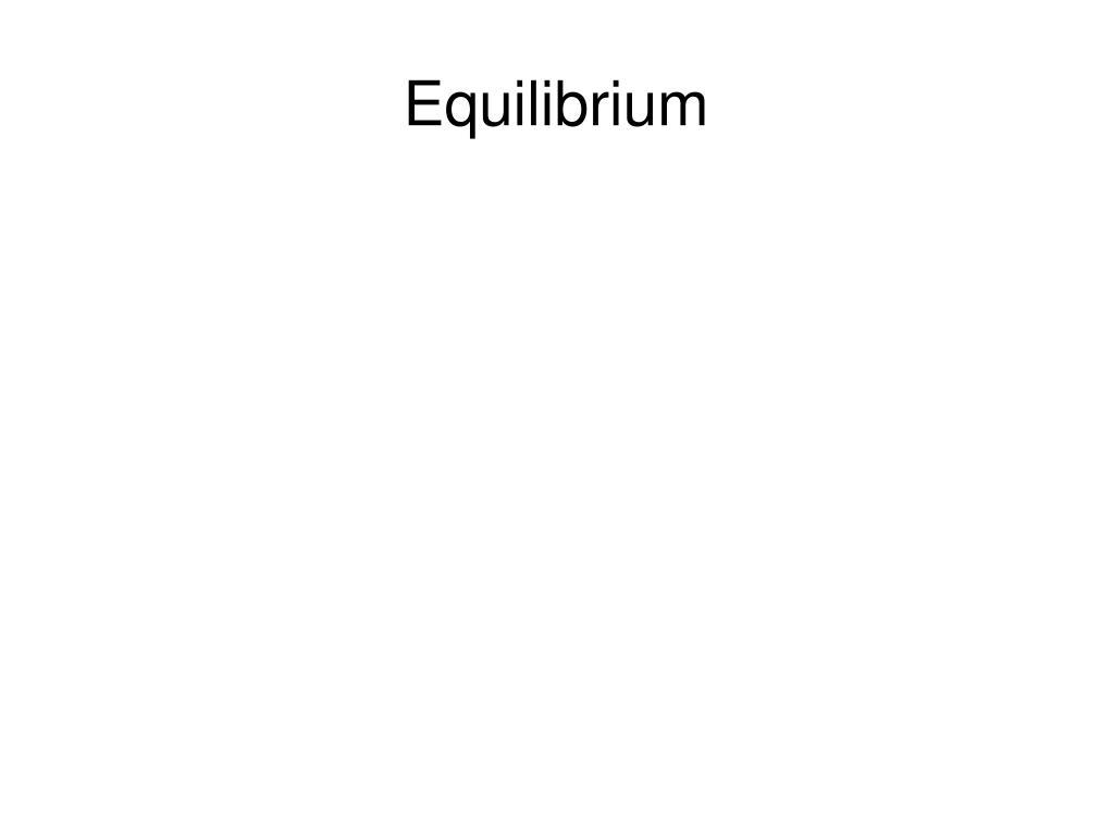 equilibrium l.