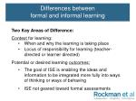 differences between formal and informal learning