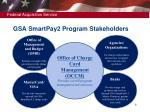 gsa smartpay2 program stakeholders