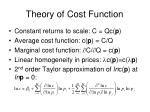 theory of cost function4