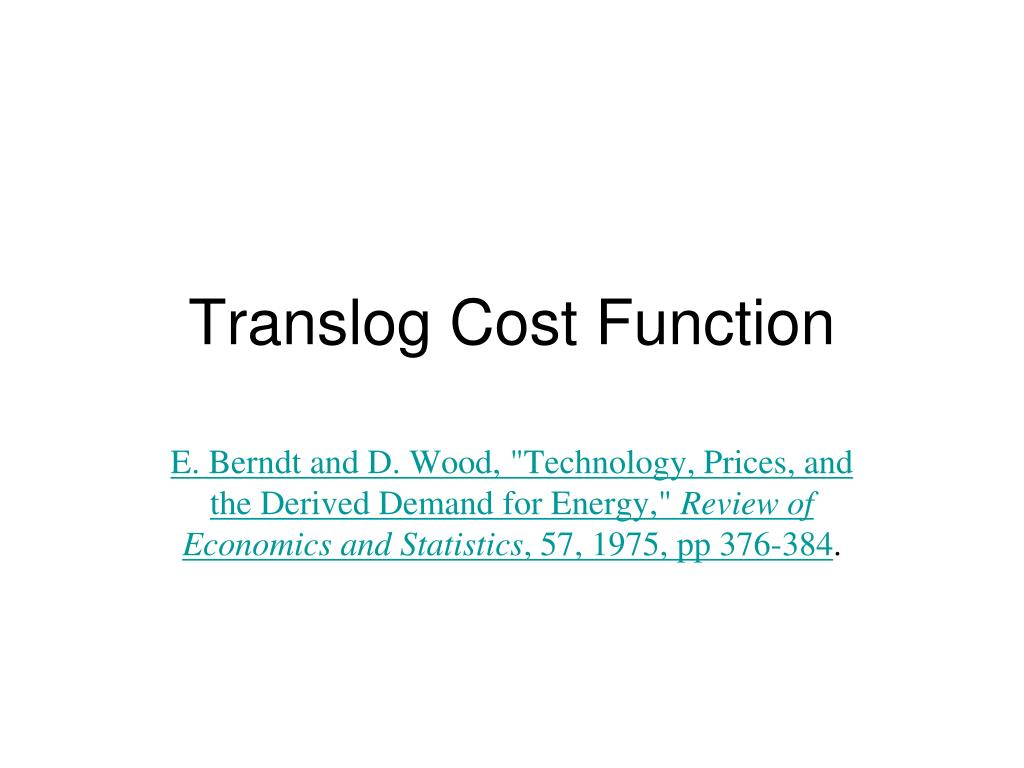 translog cost function l.