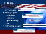 e tools