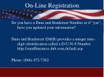on line registration34