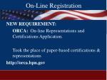 on line registration35