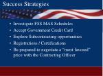 success strategies52