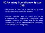ncaa injury surveillance system iss