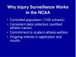 why injury surveillance works in the ncaa
