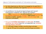 s parer l information sortante et l information entrante14