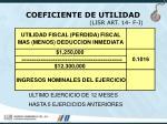 coeficiente de utilidad lisr art 14 f i