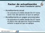 factor de actualizaci n art sexto transitorio lietu