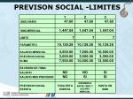 previson social limites