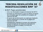 tercera resoluci n de modificaciones rmf 0764