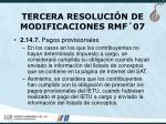 tercera resoluci n de modificaciones rmf 0765