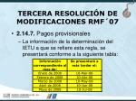tercera resoluci n de modificaciones rmf 0766