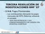 tercera resoluci n de modificaciones rmf 0767
