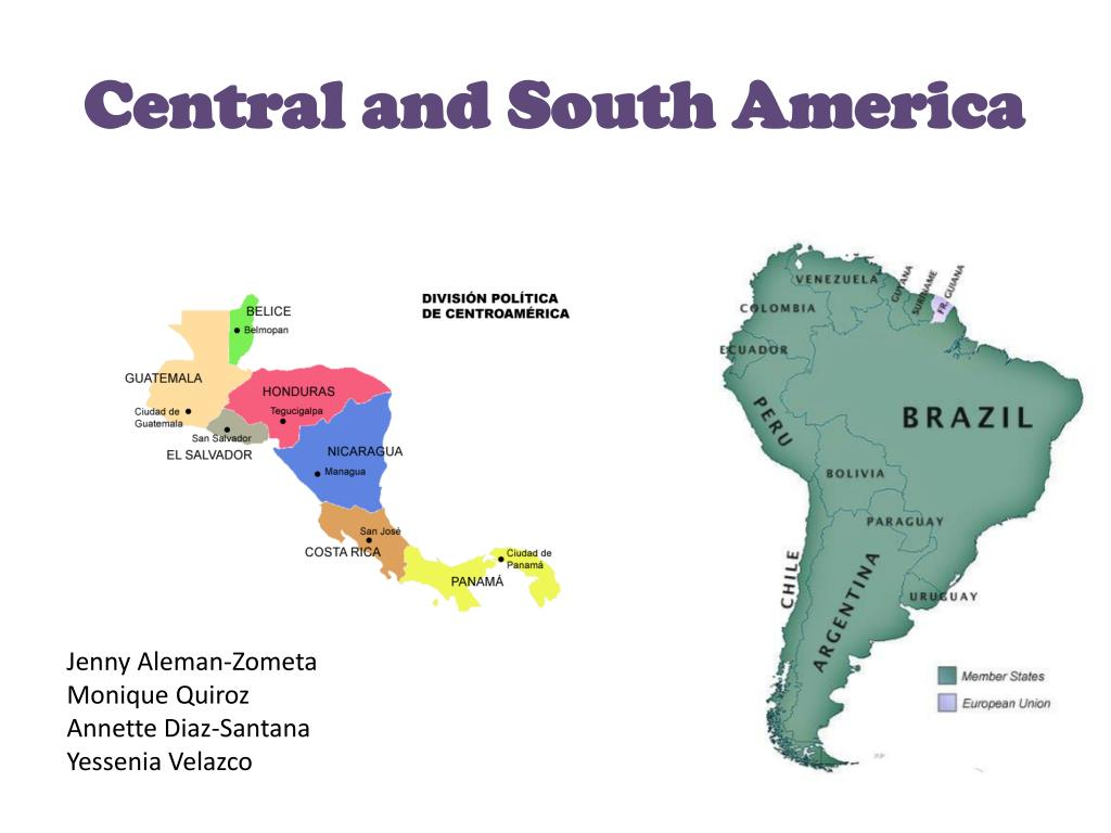 central and south america l.